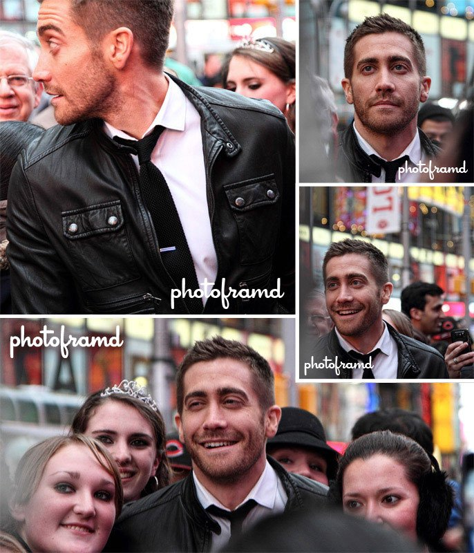 Jake Gyllenhaal in Times Square NYC