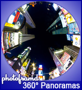 Photoframd 360-degree panoramas